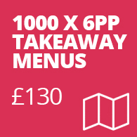 takeaway menu printing york
