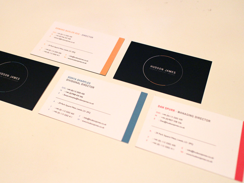 business cards york - great finish