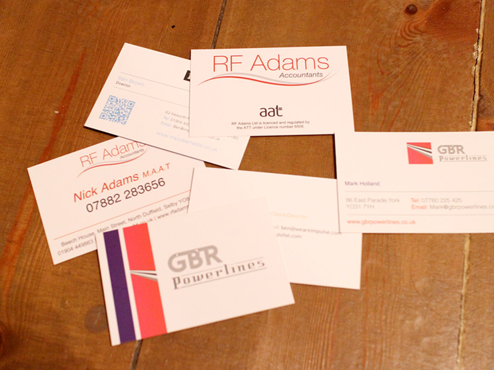 quality business cards in york - call us now