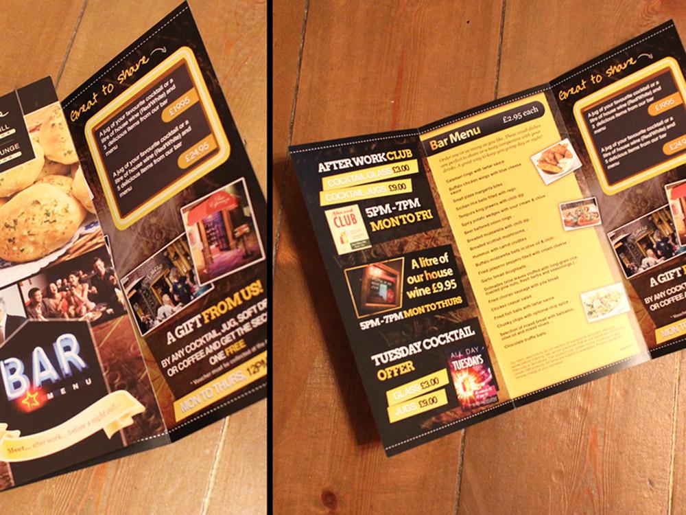 Takeaway menu printing York